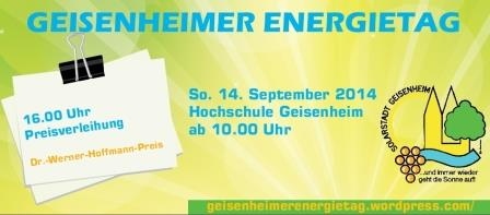Geisenheimer Energietag 2014